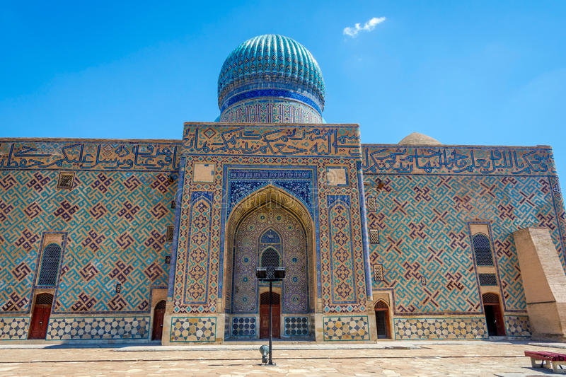 Turkistan-Mausoleum, Kasachstan stockbild