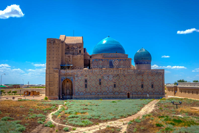 Turkistanmausoleum, Kazachstan royalty-vrije stock foto's