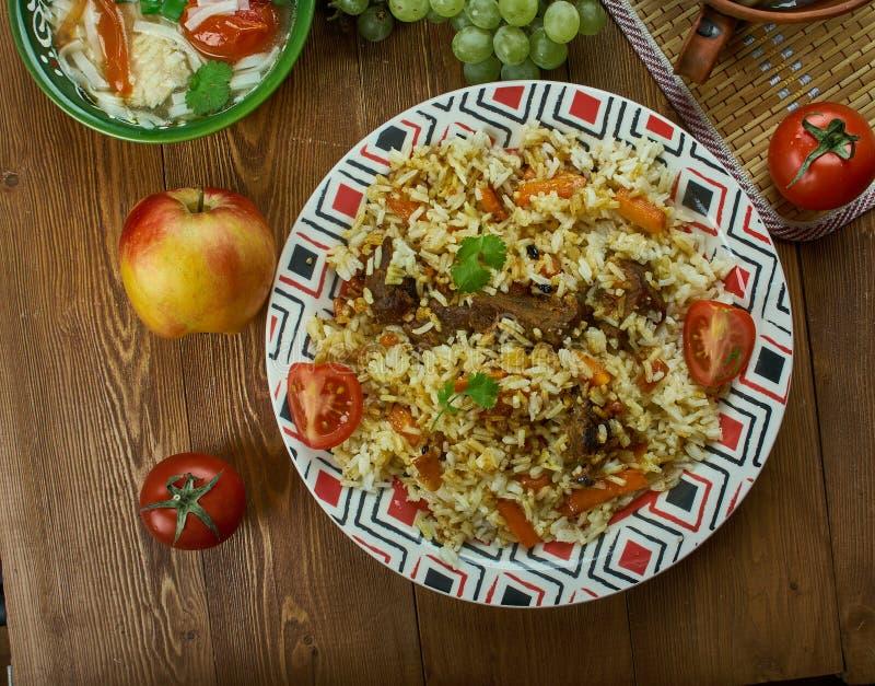 Turkmen Pilaf stock images