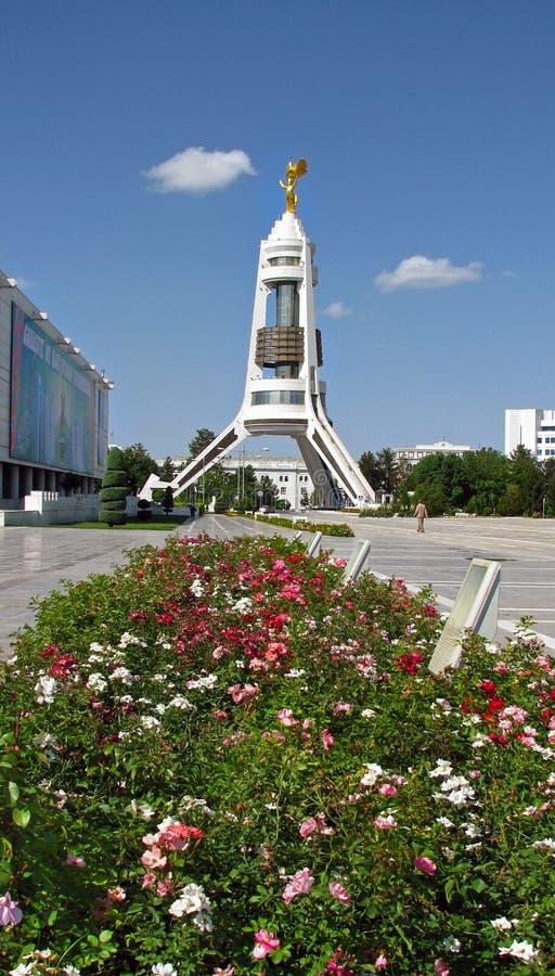 Turkmenistán - monumentos y edificios de Asjabad fotos de archivo libres de regalías