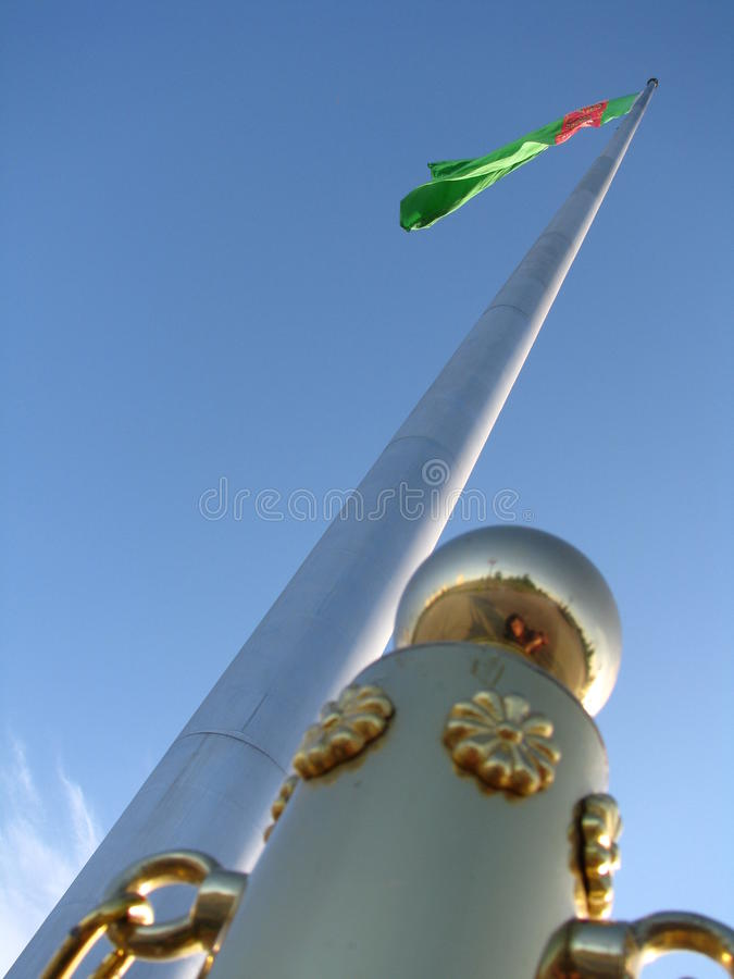 Turkmenistan - Ashgabat, National flag monument royalty free stock image