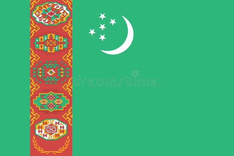 Turkmenistan bandery royalty ilustracja