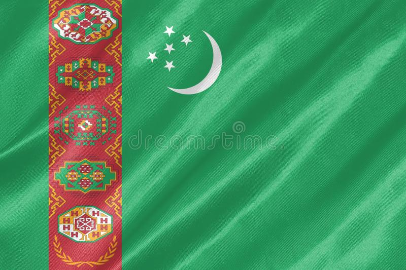 Turkmenistan flaga obraz royalty free