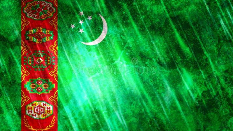 Turkmenistan flagga vektor illustrationer