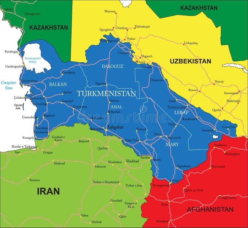 Turkmenistan Map Royalty Free Stock Image Image - Turkmenistan map