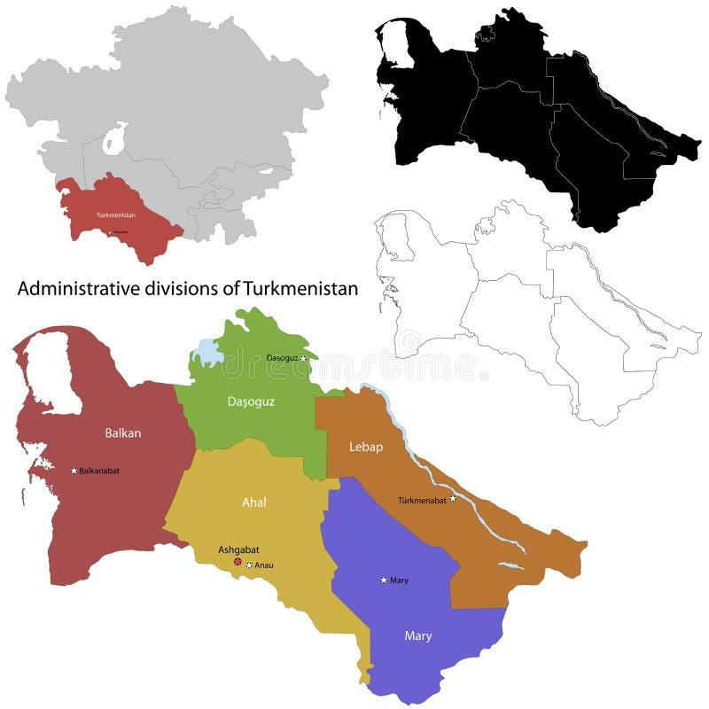 Turkmenistan mapa ilustracja wektor
