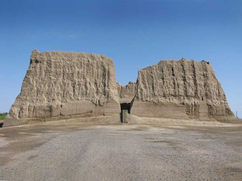 Turkmenistan - Merv, Big Kyz Kala fortress stock photo