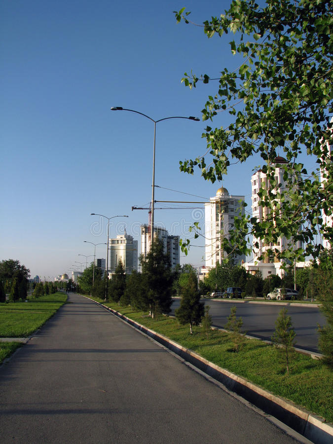 Turkmenistan - Monuments and buildings of Ashgabat royalty free stock image