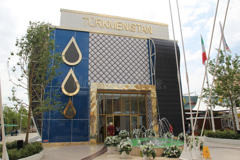 Turkmenistan paviljong arkivfoto