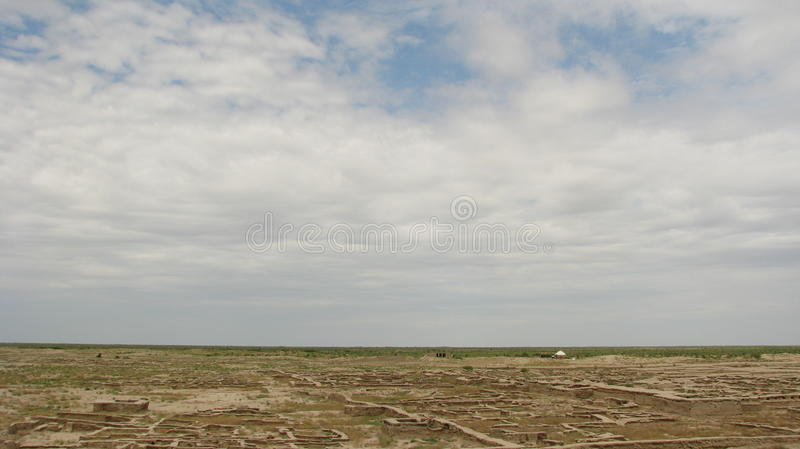 Turkmenistan sightseeings - GONUR-Depe royalty free stock image