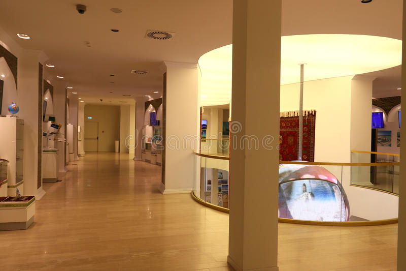 Turkmensitan paviljong Milan, milano expo 2015 arkivbilder