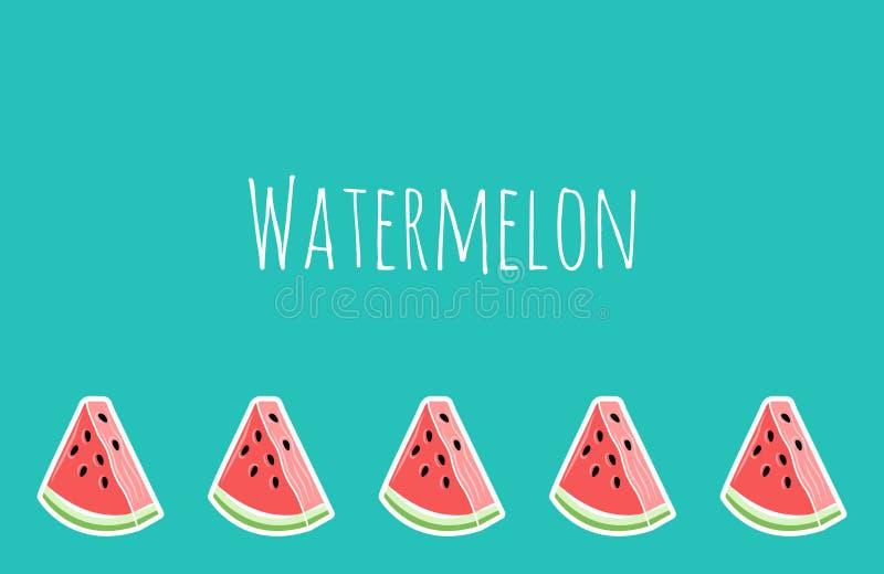 Turkoois watermeloenbehang, plaats voor tekst royalty-vrije illustratie