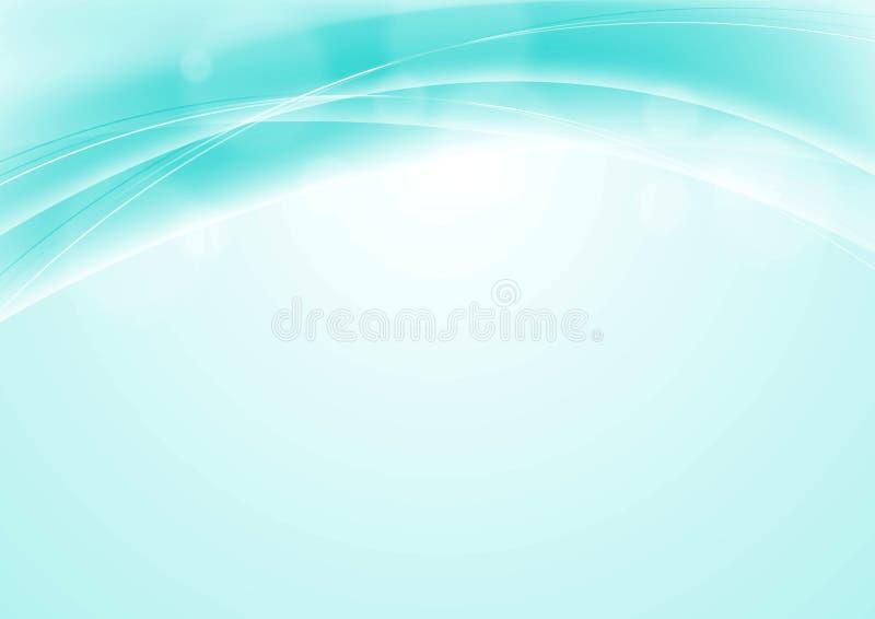 Turkooise blauwe abstracte vlotte golvende achtergrond royalty-vrije illustratie