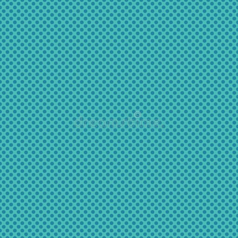 Turkooise blauwe stipcirkels Vectorpatroon naadloze achtergrond r Uiterst kleine kleine gespikkeld royalty-vrije illustratie