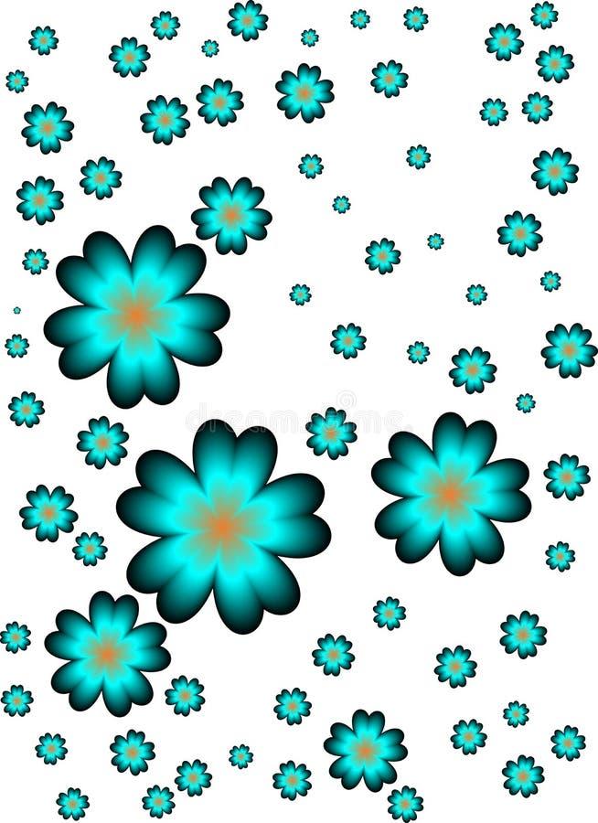 Turkooise bloemen vector illustratie