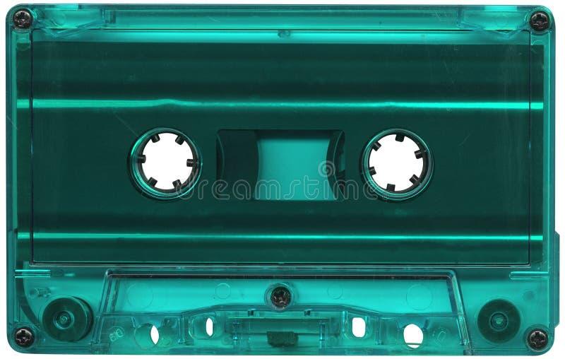 Turkooise cassetteband stock afbeeldingen