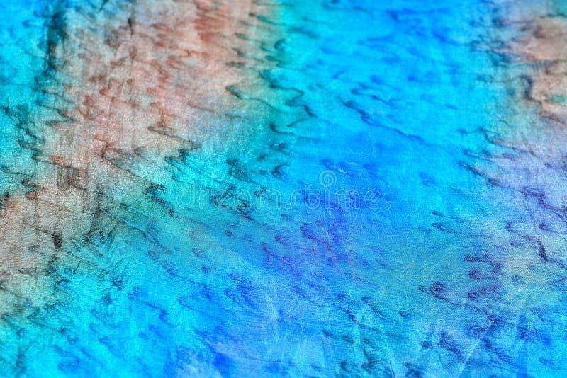 turkooise en blauwe zijde stock fotografie
