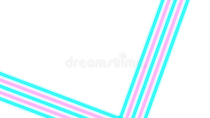 Turkooise en roze neonlichten met veel exemplaarruimte voor tekst of productvertoning royalty-vrije illustratie