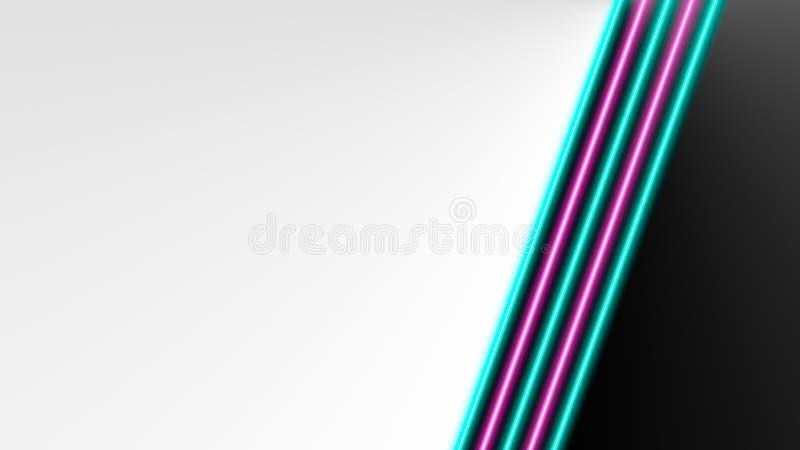 Turkooise en roze neonlichten met veel exemplaarruimte voor tekst of productvertoning vector illustratie