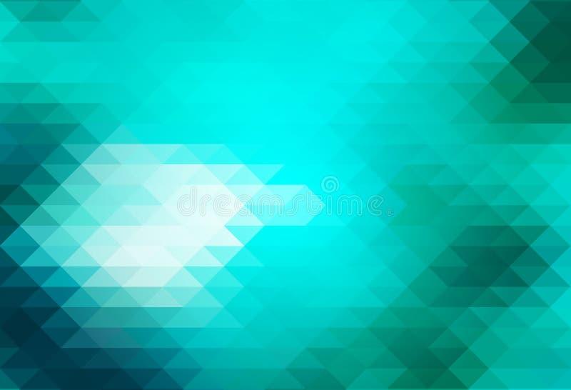 Turkooise groene rijen van driehoekenachtergrond stock illustratie