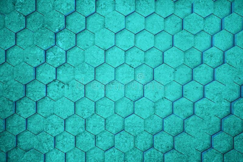 Turkooise honingraatachtergrond vector illustratie