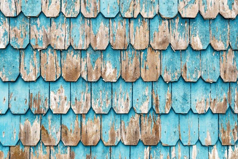 Turkooise Houten Comité Architectuur in Puerto Varas, Chili stock afbeelding