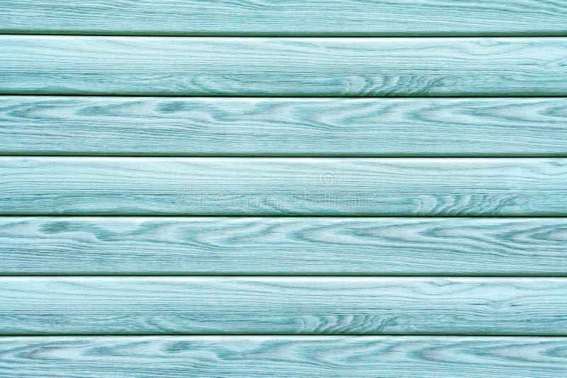 Turkooise houten planken als textuur, achtergrond stock foto's
