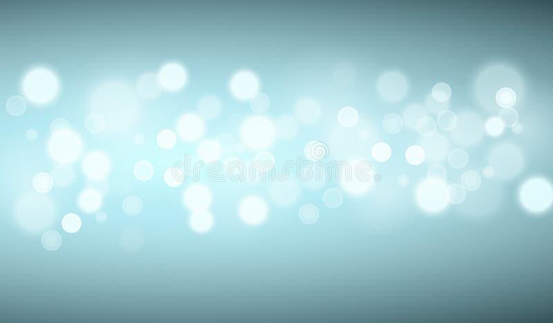 Turkooise lichtenachtergronden vector illustratie