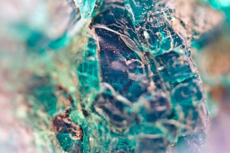 Turkooise natuurlijke textuur van natuurlijk materiaal kristallen Macro abstracte achtergrond stock afbeeldingen