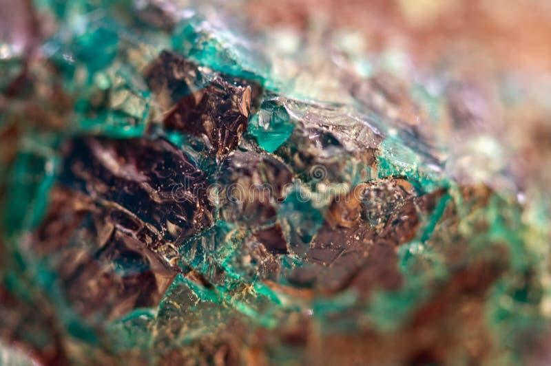 Turkooise natuurlijke textuur van natuurlijk materiaal kristallen Macro abstracte achtergrond royalty-vrije stock foto