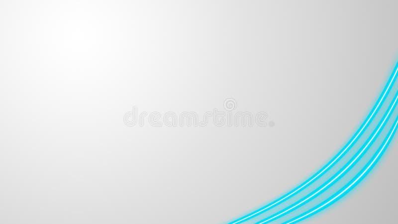 Turkooise neonlichten met veel exemplaarruimte voor tekst of productvertoning stock illustratie