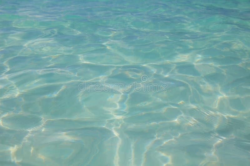 Turkooise waterspiegeltextuur stock afbeelding