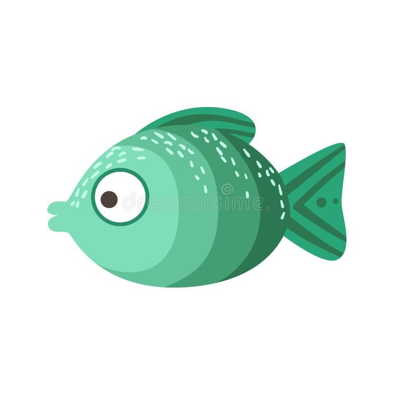 Turkos- och gräsplanskuggor av den fantastiska färgrika akvariefisken för färg, vatten- djur för tropisk rev royaltyfri illustrationer