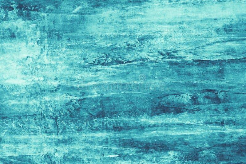 Turkosmålarfärgfläckar på kanfas Abstrakt illustration med turkosfläckar på mjuk bakgrund Id?rik konstn?rlig bakgrund Abstr vektor illustrationer
