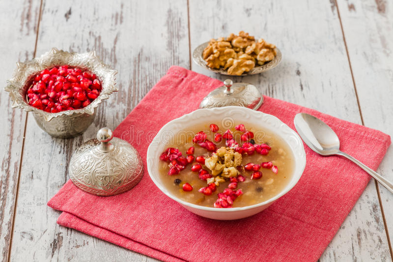 Turks Dessert Ashura royalty-vrije stock foto's