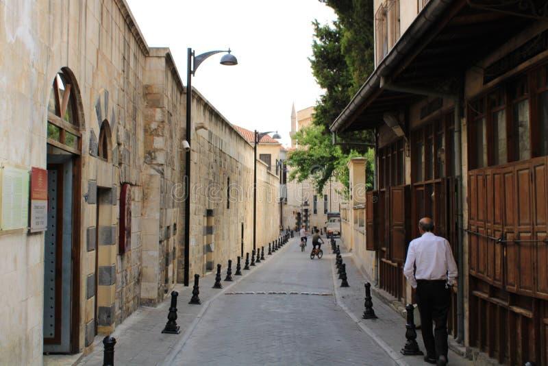 Turks, Gaziantep, 24 Juni, - 2019: Straten van Gaziantep royalty-vrije stock afbeelding