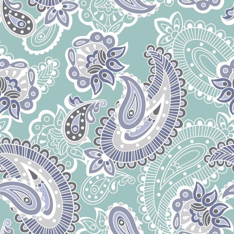 Turks komkommer naadloos patroon, blauwe stijl vector illustratie