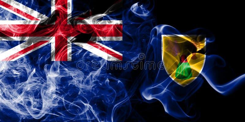 Turks- och Caicosöarna röker flaggan, beroende territoriet flagga för brittiska utländska territorier, det Britannien vektor illustrationer