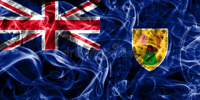 Turks- och Caicosöarna rökflagga, brittiska utländska Territorie vektor illustrationer