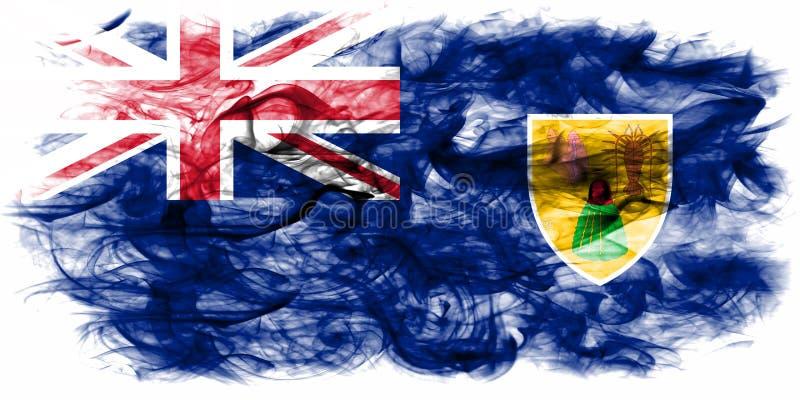Turks- och Caicosöarna rökflagga, brittiska utländska Territorie stock illustrationer