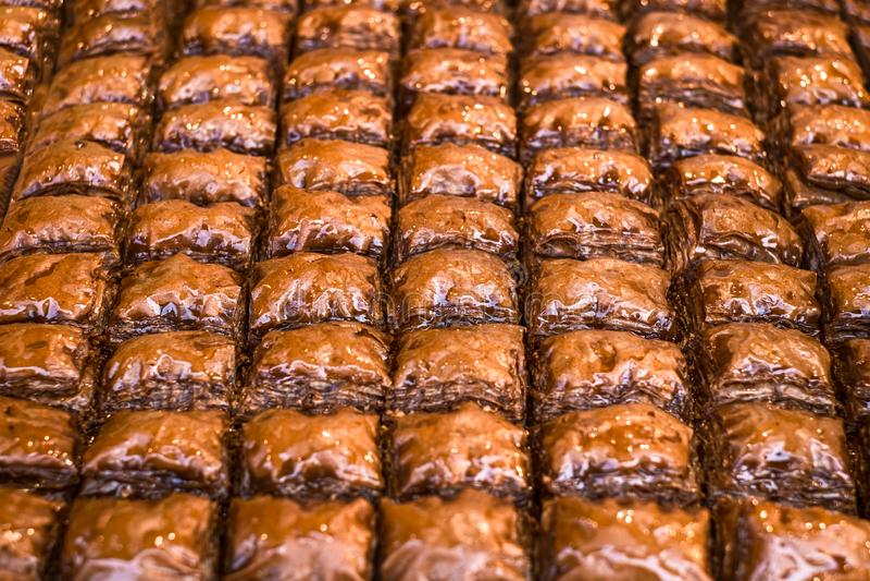 Turks Ramadan Dessert Baklava royalty-vrije stock foto's