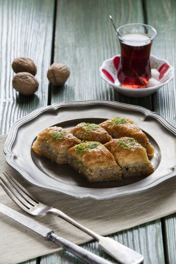 Turks Ramadan Dessert Baklava stock foto