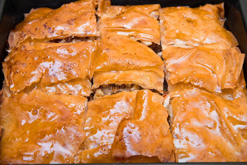 Turks Ramadan Dessert Baklava stock afbeeldingen
