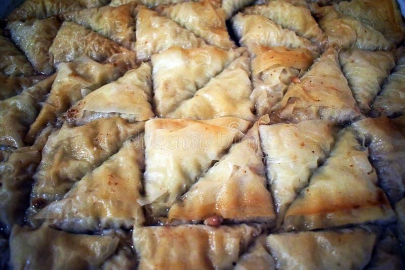 Turks Ramadan Dessert Baklava met conceptenachtergrond stock afbeelding