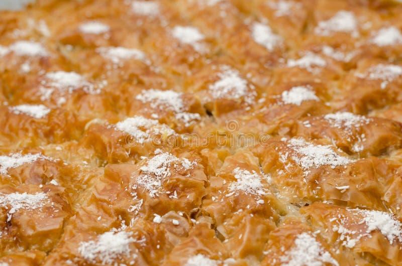 Turks Ramadan Dessert Baklava met conceptenachtergrond stock foto's