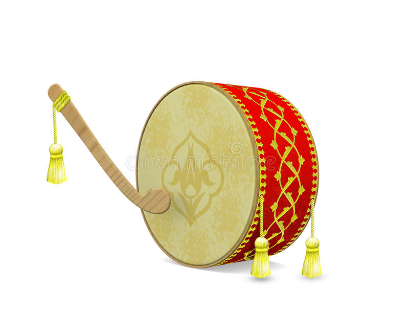 Turks Ramadan Drum vector illustratie