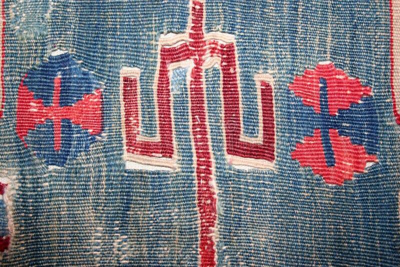 Turks tapijtpatroon als achtergrond royalty-vrije stock afbeelding