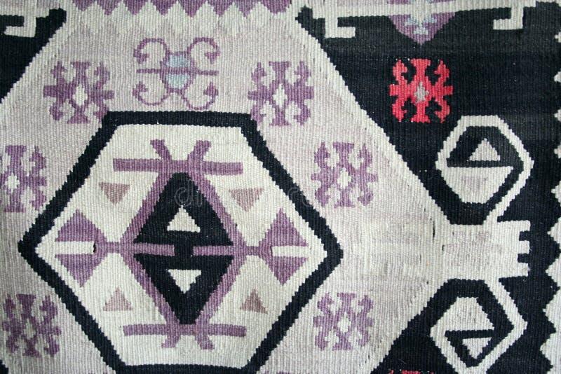 Turks tapijtpatroon als achtergrond royalty-vrije stock foto