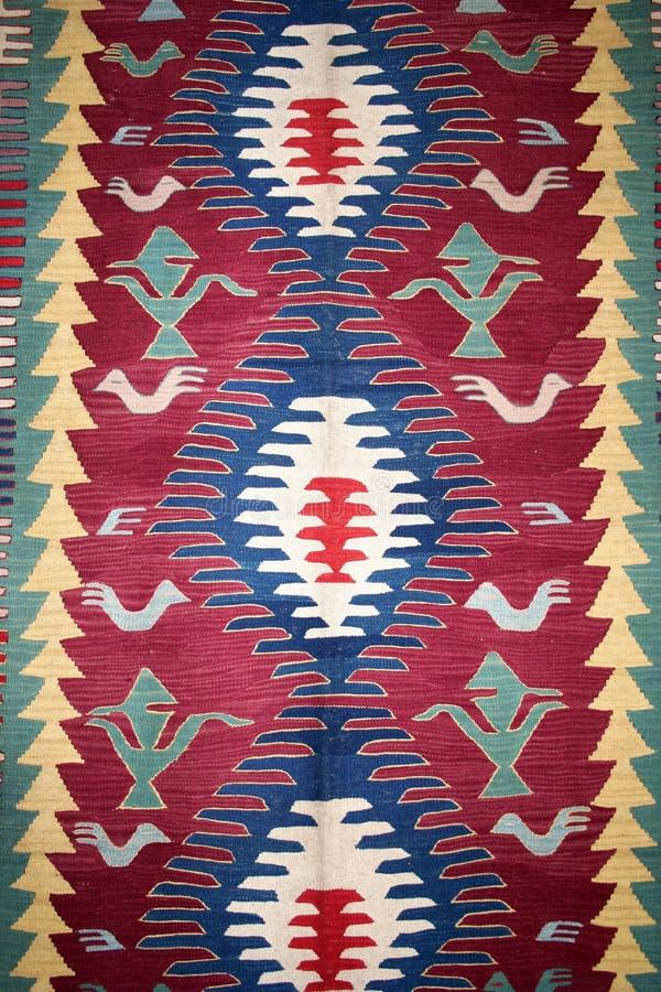 Turks tapijtpatroon als achtergrond stock foto