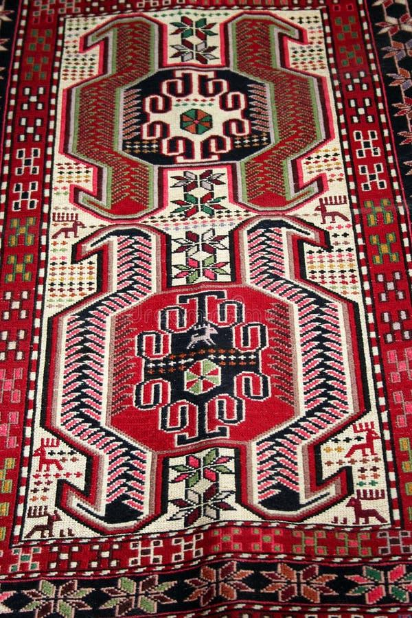 Turks tapijtpatroon als achtergrond stock fotografie